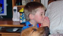 Jango the dog and Billy the cat praying – gorgeous!